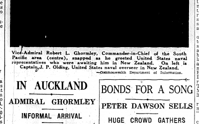 Admiral Ghormley suddenly in Auckland May 1942!
