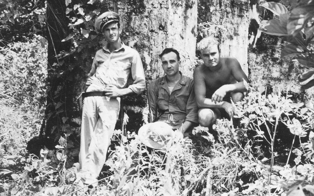 Charlie, Doc, and Vic pose in New Guinea Jungle!